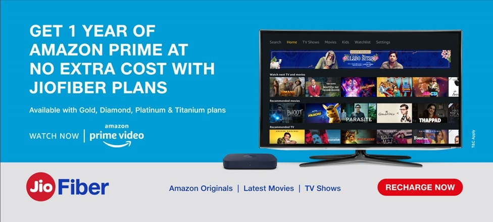 Jio Fiber Amazon Prime Offer